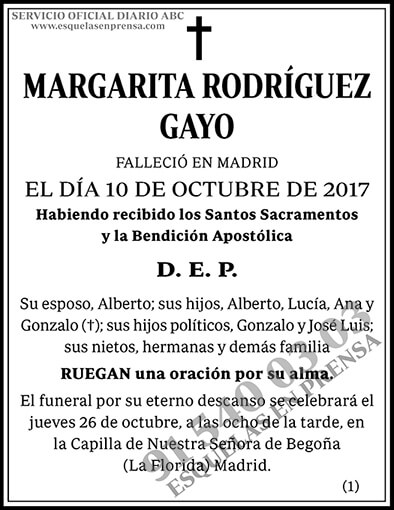 Margarita Rodríguez Gayo
